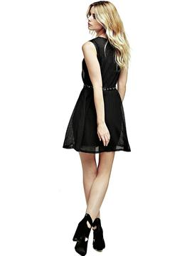 PERFORATED DRESS JET BLACK