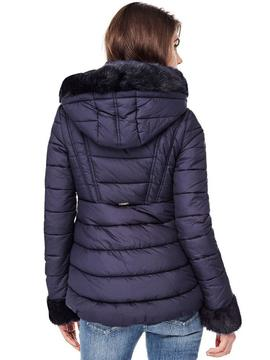 DORIS HOODED JACKET DEEP INDIGO