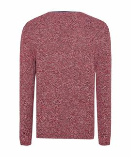 TJM MELANGE SWEATER RACING RED