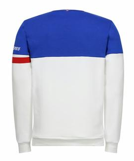 TRI CREW SWEAT Nº1 M OPTICAL WHITE / COBALT