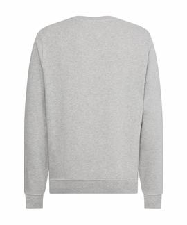 HILFIGER INTARSIA SWEATSHIRT MEDIUM GREY HEATHER
