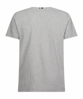 CORP TEXTURE EMBRO TEE MEDIUM GREY HEATHER