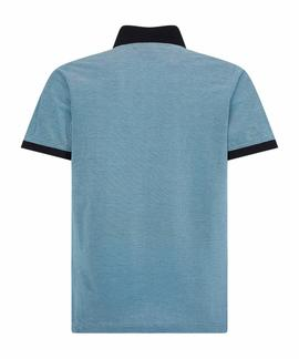 STRUCTURED SLIM POLO BLUE INK