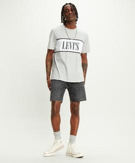 AUTHENTIC COLORBLOCK TEE M.HEATHER GREY / FORGED