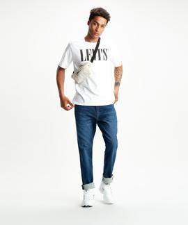 LEVI'S® RELAXED GRAPHIC TEE 90S SERIF LOGO WHITE