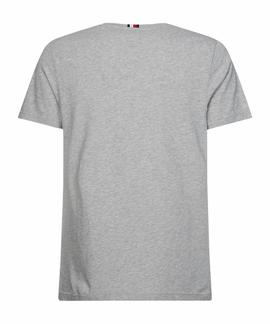 BLOCK STRIPE HILFIGER TEE MEDIUM GREY HEATHER