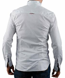 BASIC STRETCH PRINT SHIRT CLASSIC WHITE