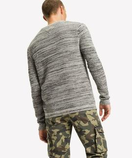 TJM TONAL CN SWEATER LIGHT GREY HEATHER