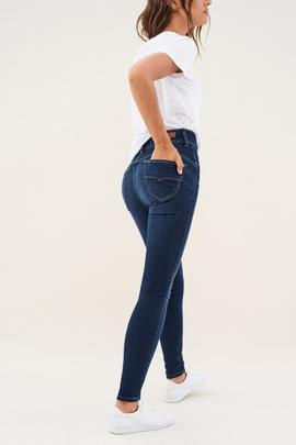 SECRET SKINNY FIT HIGH RISE EN DENIM AZUL