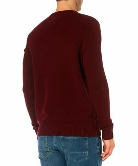 THDM CN BASIC LW CN SWEATER BORDEAUX