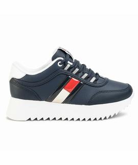HIGH CLEATED FLAG SNEAKER TWILIGHT NAVY