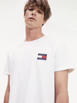 TJM TOMMY BADGE TEE REGULAR FIT WHITE