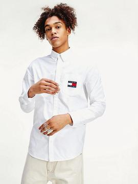 TJM OXFORD BADGE SHIRT WHITE