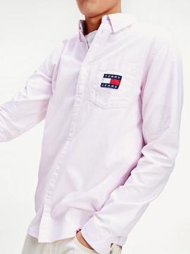 TJM OXFORD BADGE SHIRT PEARLY PINK