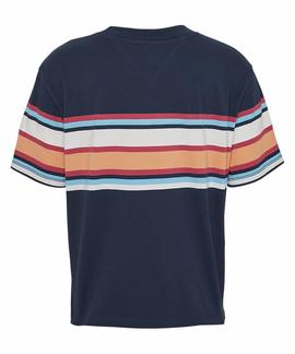 TJW STRIPE LOGO TEE TWILIGHT NAVY