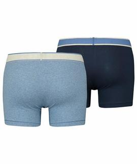LEVIS MEN VINTAGE HEATHER BOXER BRIEF 2 PACK BLUE