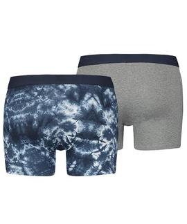 LEVIS MEN TIE DYE BOXER BRIEF 2 PACK BLUE