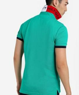 TOMMY JACQUARD SLIM POLO S/S SF GREEN