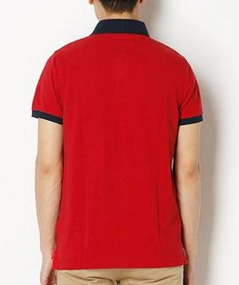 TOMMY JACQUARD SLIM POLO S/S SF RED