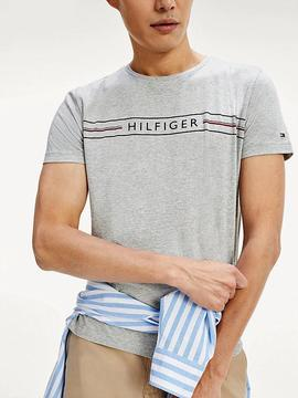CORP HILFIGER TEE MEDIUM GREY HEATHER