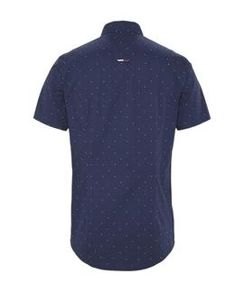 TJM SHORTSLEEVE DOBBY SHIRT TWILIGHT NAVY / MULTI