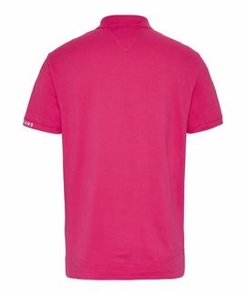 TJM BRANDED RIB POLO BRIGHT CERISE PINK