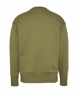 TJM TOMMY JEANS BADGE CREW UNIFORM OLIVE