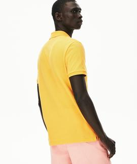 POLO LACOSTE SLIM FIT YZR NARANJA