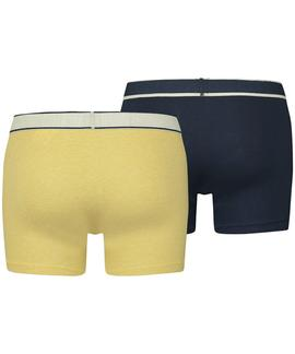 LEVIS MEN VINTAGE HEATHER BOXER BRIEF 2 PK YELLOW