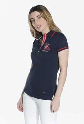POLO M FLOWERS LADIES AZUL MARINO