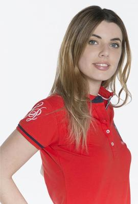 POLO M FLOWERS LADIES ROJO