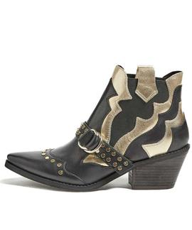 NARRI STIVALETTO BOOTIE LEAT GOLD