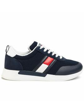 FLEXI TOMMY JEANS FLAG SNEAKER TWILIGHT NAVY