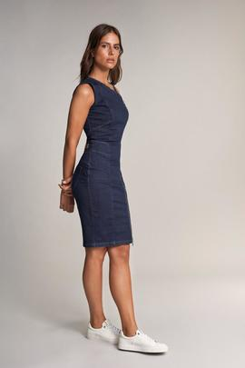 VESTIDO SECRET SLIM FIT EN DENIM AZUL