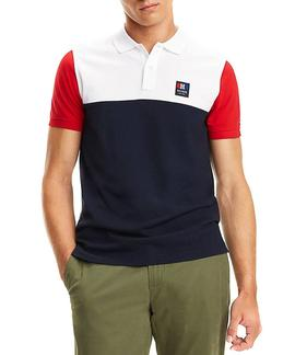 COLORBLOCK SLIM FIT POLO SKY CAPTAIN / MULTI