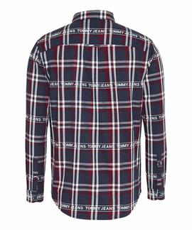 TJM BRANDED FLANNEL SHIRT TWILIGHT NAVY