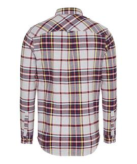 TJM FLANNEL PLAID SHIRT LT GREY HTR / MULTI