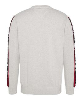 TJM SLEEVE TAPE SWEATER SILVER GREY HTR