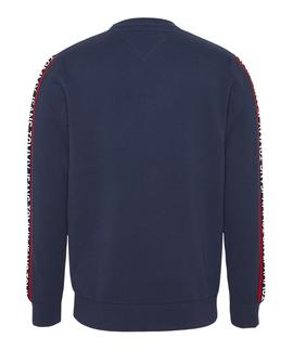 TJM SLEEVE TAPE SWEATER TWILIGHT NAVY