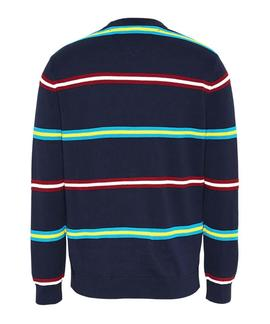 TJM STRUCTURED STRIPE SWEATER TWILIGHT NAVY