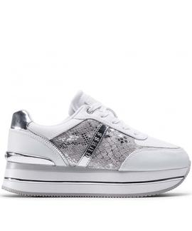 DAFNEE ACTIVE LADY LEATHER LIKE WHITE / SILVER