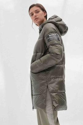 MARANGU SHINE COAT WOMAN 056 DUSTY OLIVE