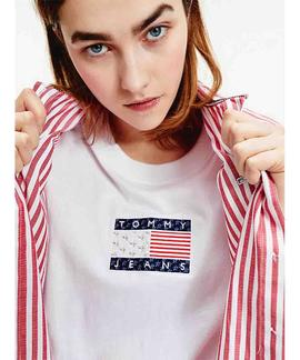 TJW STAR AMERICANA FLAG TEE WHITE