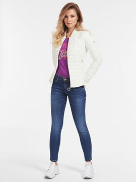 PADDED FANCY ZIPPY JACKET WHITE