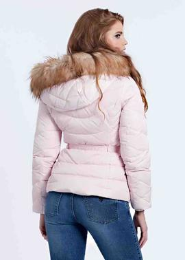 SARA SHORT DOWN JACKET BLUSH COTTON