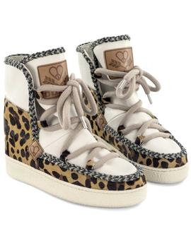 WILMA WEDGE 1 LEOPARD / WITHOUT FUR