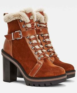 TOMMY WARM LINED HIGH HEEL BOOT PUMPKIN PARADISE