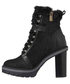 TOMMY WARM LINED HIGH HEEL BOOT BLACK