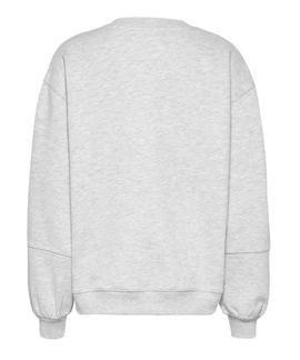 TJW COLLEGIATE LOGO CREW SILVER GREY HEATHER