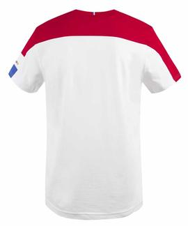 TRI TEE SS Nº1 M NEW OPTICAL WHITE / PUR ROUGE